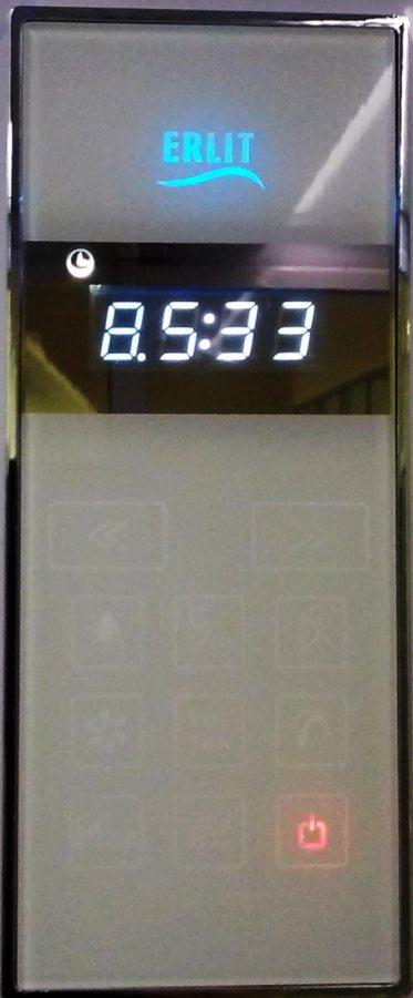 Пульт управления душевой кабины сенсорный города мира, размер внутренний: 141х63 мм