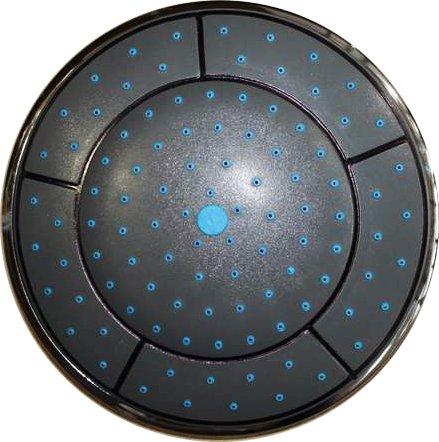 Душ верхний душевой кабины круглый D240 мм без подсветки черный пластик