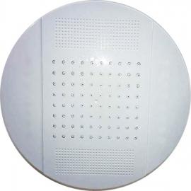 Тропический душ верхний круглый D250 мм без подсветки белый
