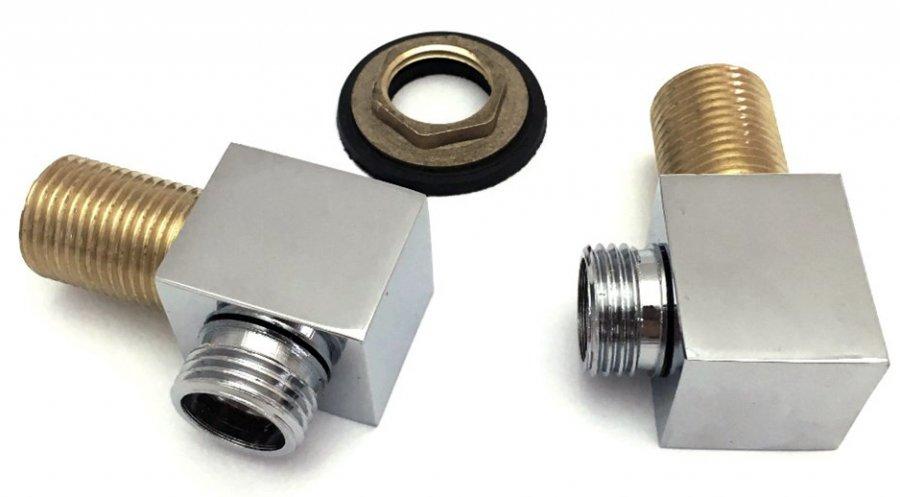 Штуцер шланга душа лейки хром металл 1/2 дюйма