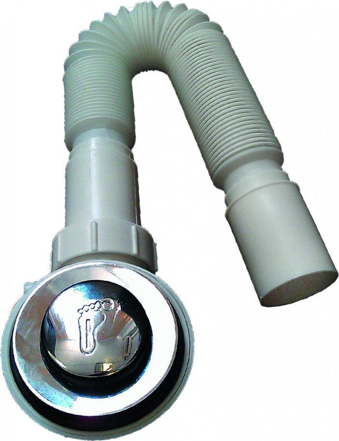 Сифон для высоких поддонов душевой кабины клик-клак под D50-60 мм
