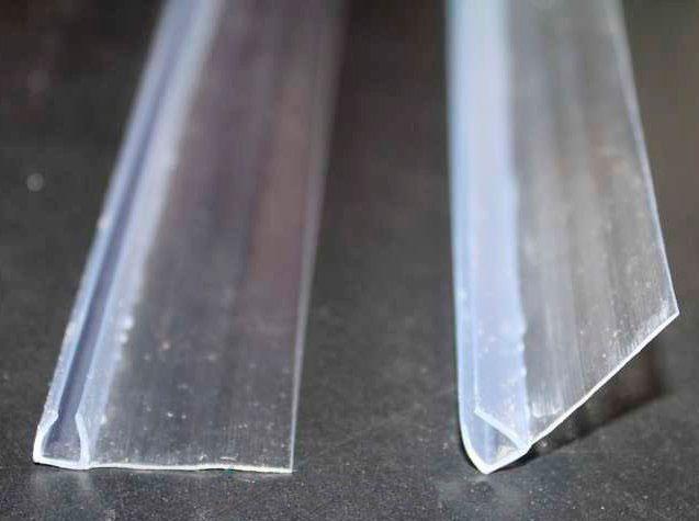 Молдинги дверные вертикальные под стекло 4 мм, 15x1535 мм
