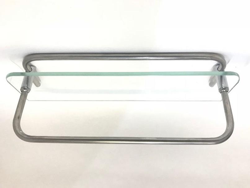 Полка стеклянная для душевой кабины (300 мм по центрам отверстий)