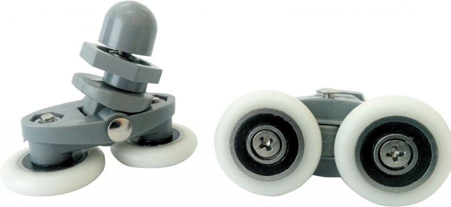 Ролики душевой кабины эксцентриковые двойные D25 мм