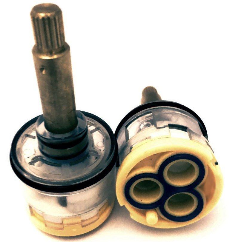 Картридж смесителя душевой кабины 3-х режимный D33 мм, шток 35 мм, шлиц