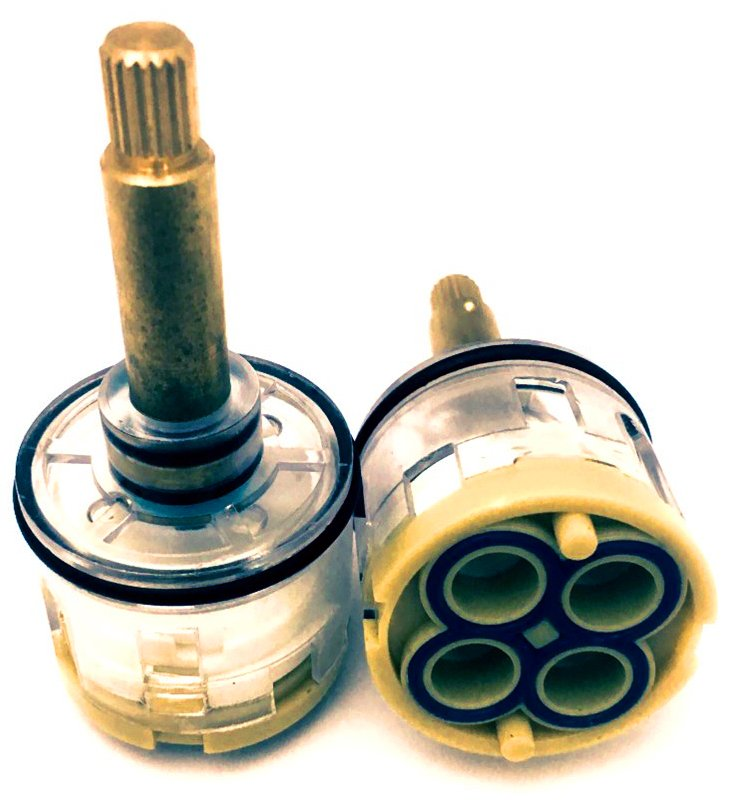Картридж смесителя душевой кабины 4-х режимный D35 мм, шток 35 мм, шлиц