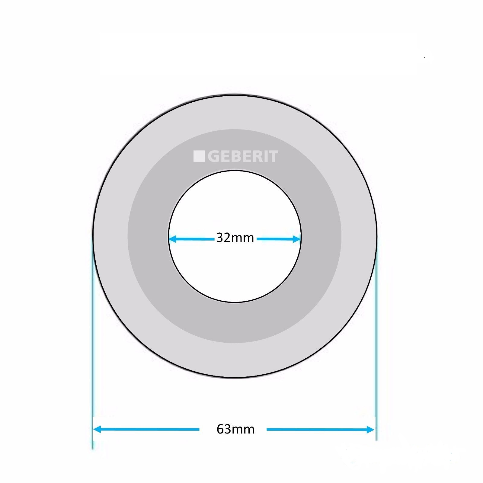 Уплотнительное кольцо сливной арматуры унитаза 63х32 мм