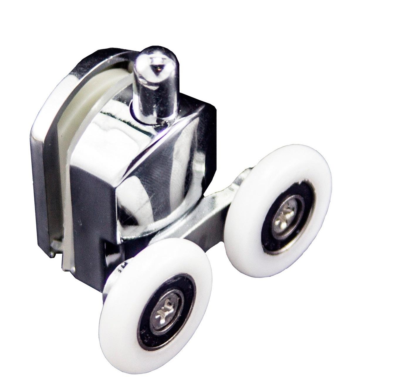 Нижний ролик для душевой кабины Ø23 мм (пластик)