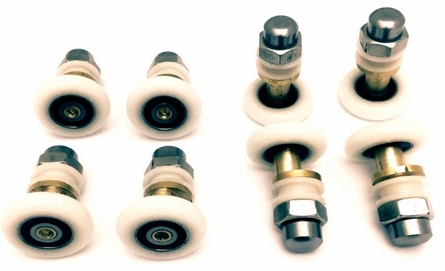 Ролик для душевой кабины эксцентрик Ø25 мм (верхний и нижний)