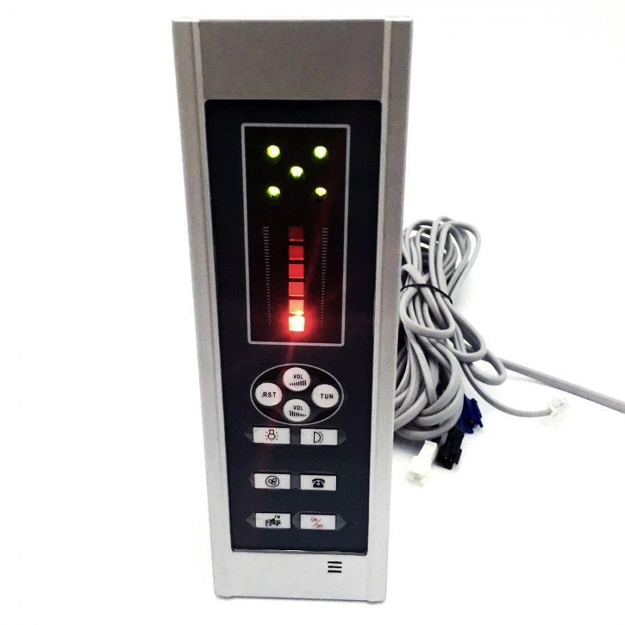 Пульт управления душевой кабины кнопочный 7 серия, размер внутренний: 180х53 мм