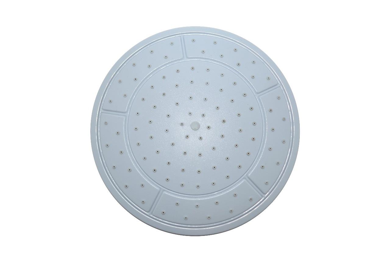 Тропический душ верхний душевой кабины круглый D240 мм без подсветки белый пластик