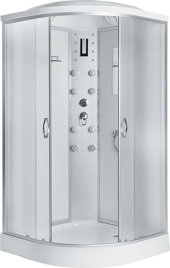 Душевая кабина Comfort 80х80х215, низкий поддон, матовое стекло