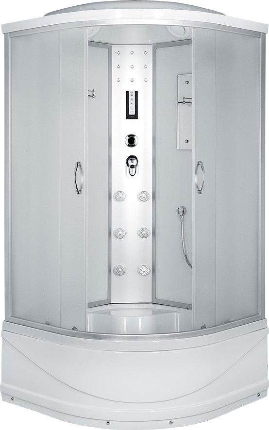 Душевая кабина Comfort 100х100х215, высокий поддон, матовое стекло